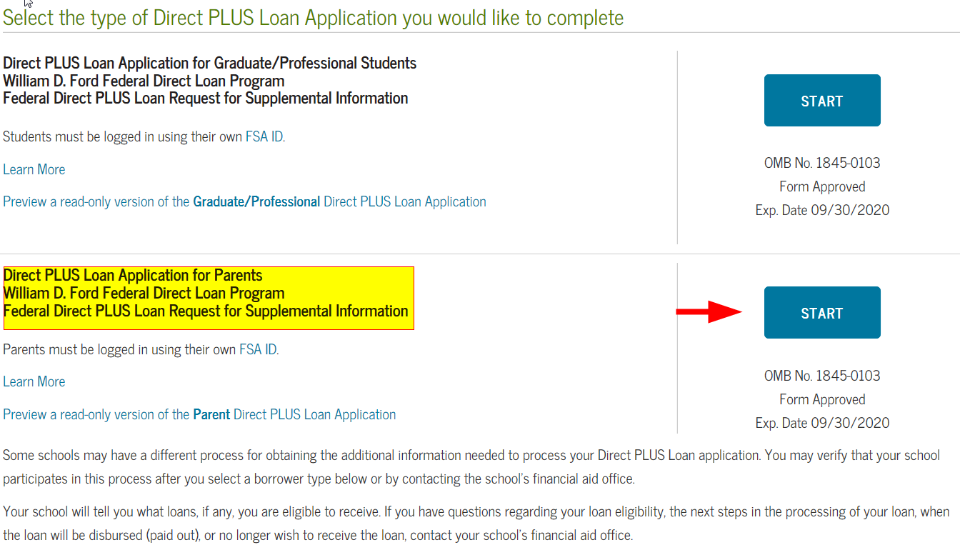 Parent Student Loans >> Steps To Apply For A Federal Direct Parent Plus Loan On Studentloans